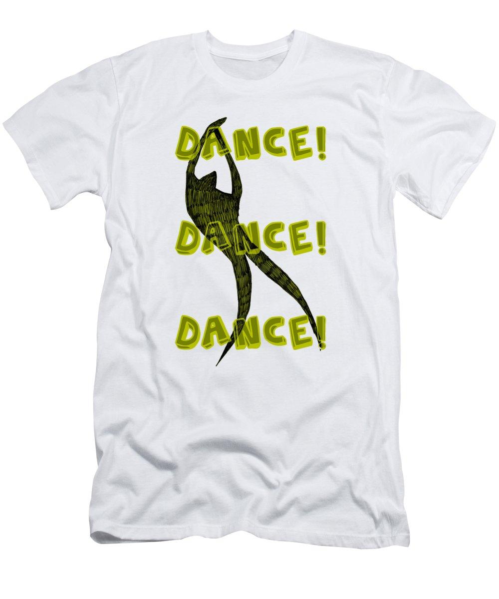 Text Men's T-Shirt (Athletic Fit) featuring the digital art Dance Dance Dance by Michelle Calkins