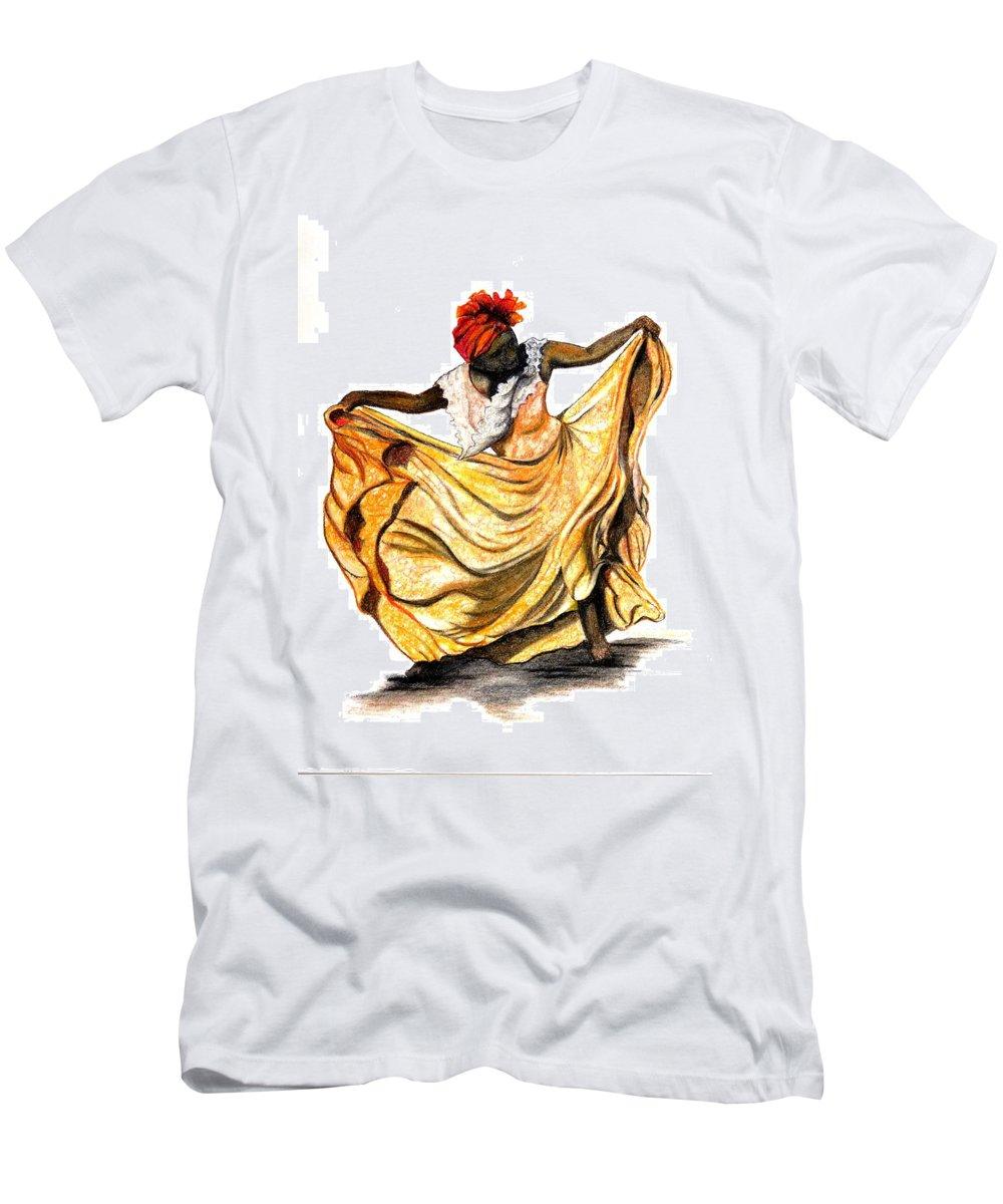 Dancer T-Shirt featuring the pastel Dance The Belair by Karin Dawn Kelshall- Best