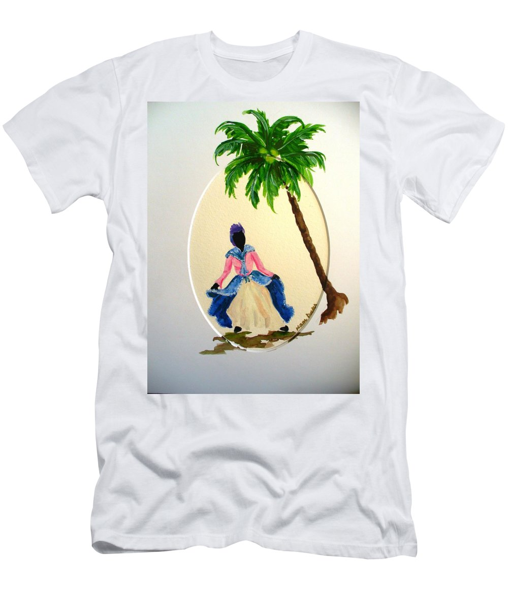 Dancer Caribbean Men's T-Shirt (Athletic Fit) featuring the painting Dancer 2 by Karin Dawn Kelshall- Best
