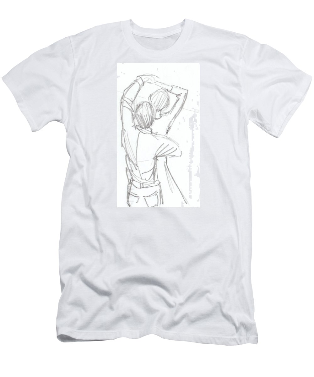 Dancing couple pencil sketch t shirt for sale by mike jory