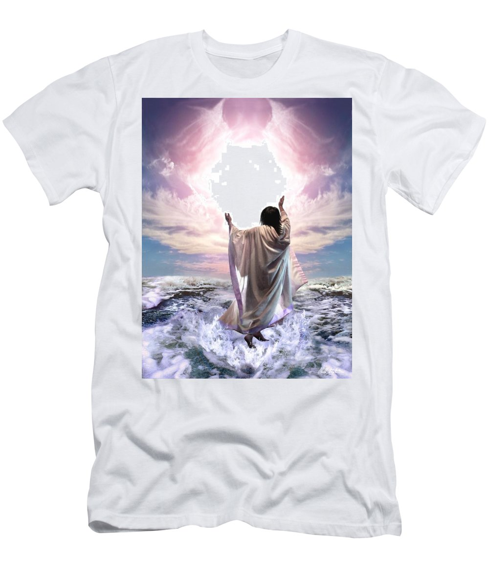 Yeshua T-Shirt featuring the digital art Dancing For My Father by Bill Stephens