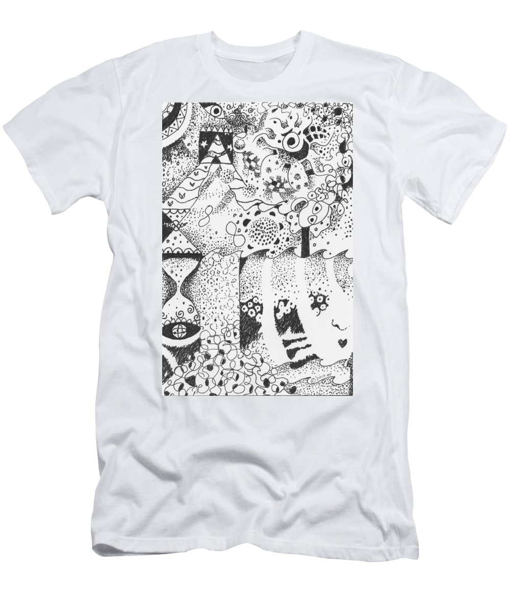Abstract Men's T-Shirt (Athletic Fit) featuring the drawing Dancing In The Dark by Helena Tiainen