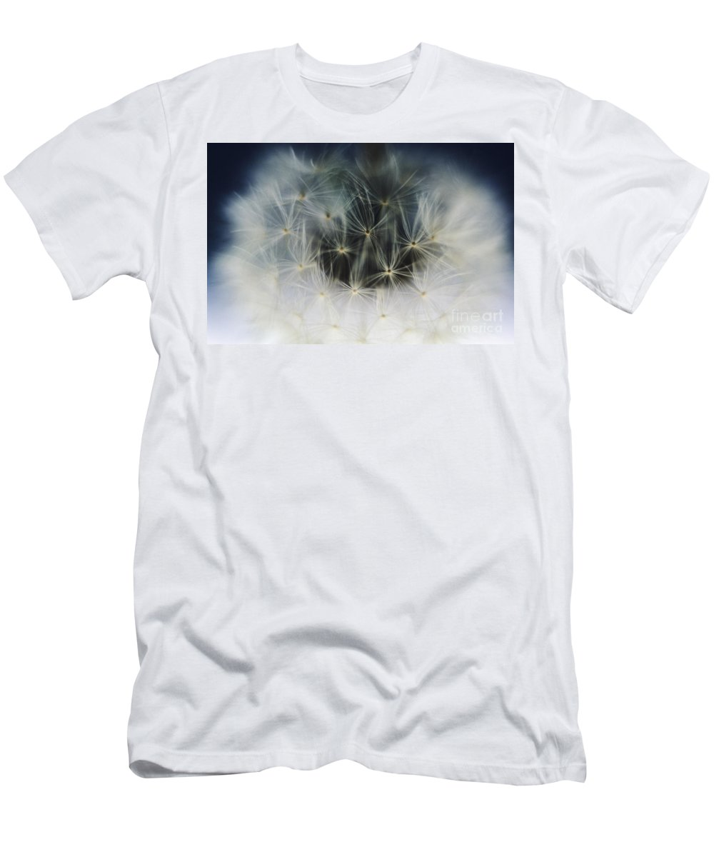 Abstract Men's T-Shirt (Athletic Fit) featuring the photograph Dandelion Seeds by Larry Dale Gordon - Printscapes