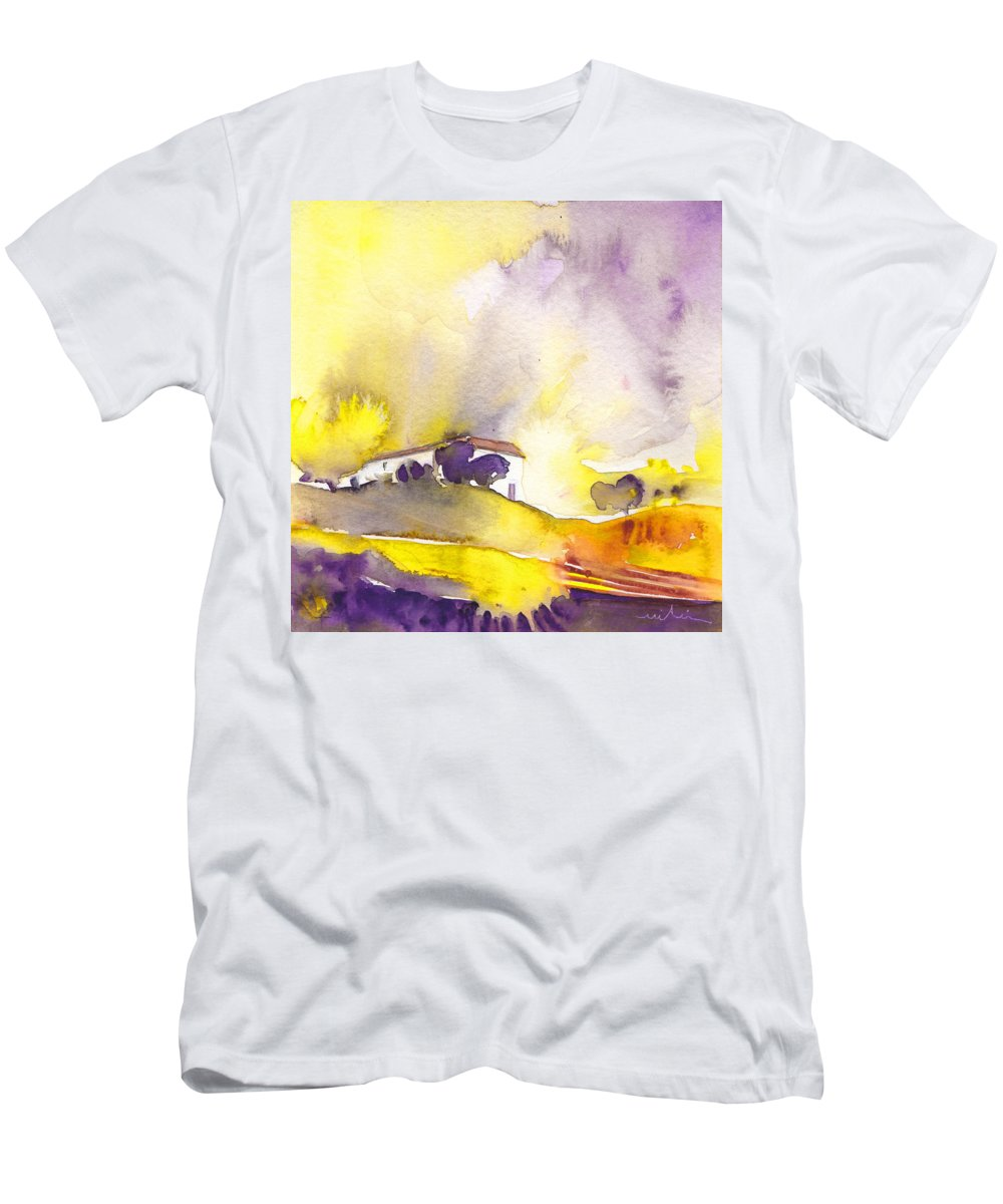 Watercolour Men's T-Shirt (Athletic Fit) featuring the painting Dawn 16 by Miki De Goodaboom