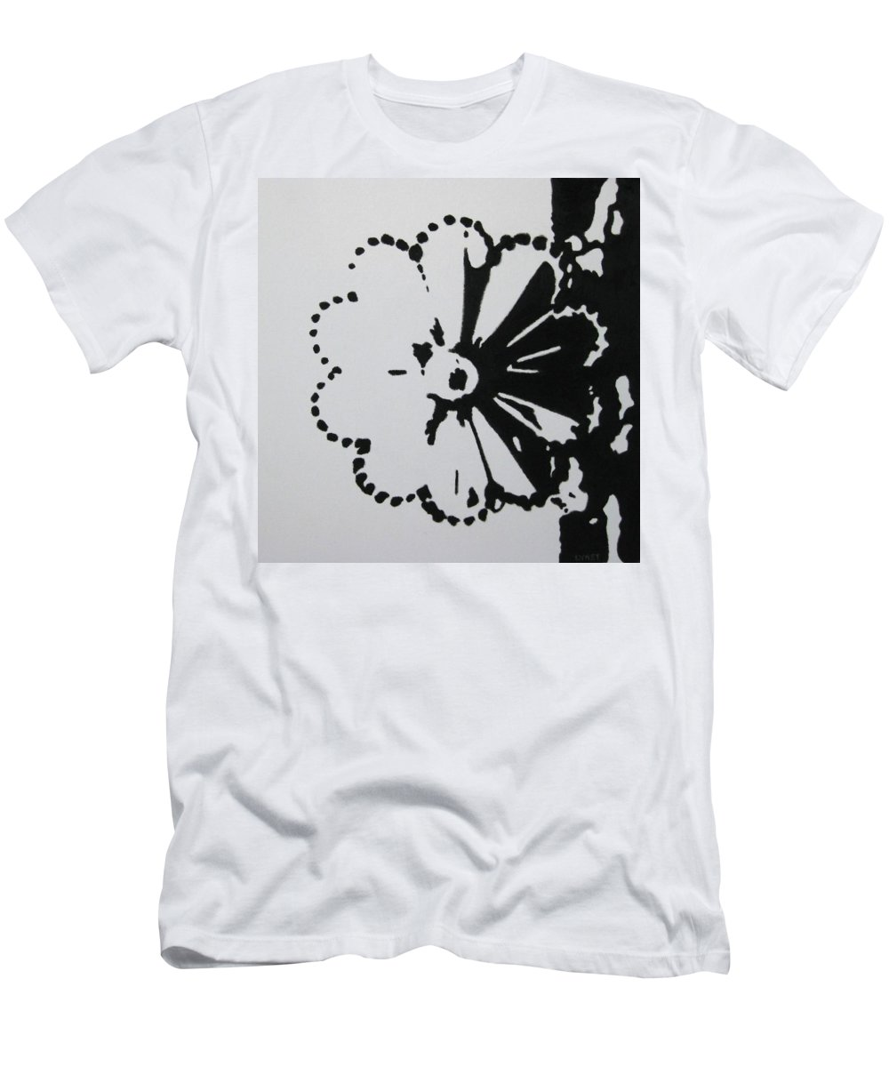 Abstract Men's T-Shirt (Athletic Fit) featuring the painting Day And Night I by Lynet McDonald