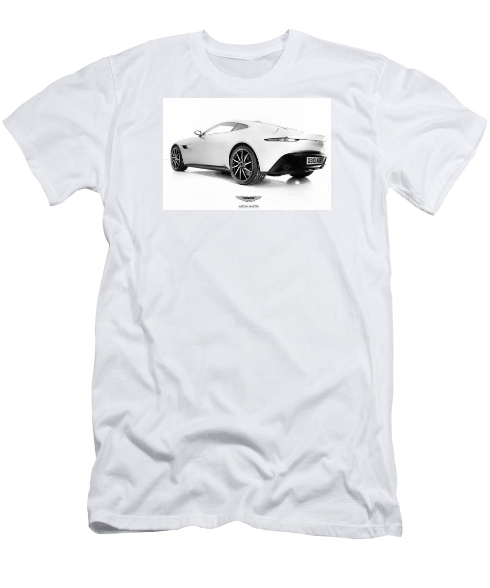 Aston Martin Men's T-Shirt (Athletic Fit) featuring the photograph Db10 Agb by Darek Szupina Photographer