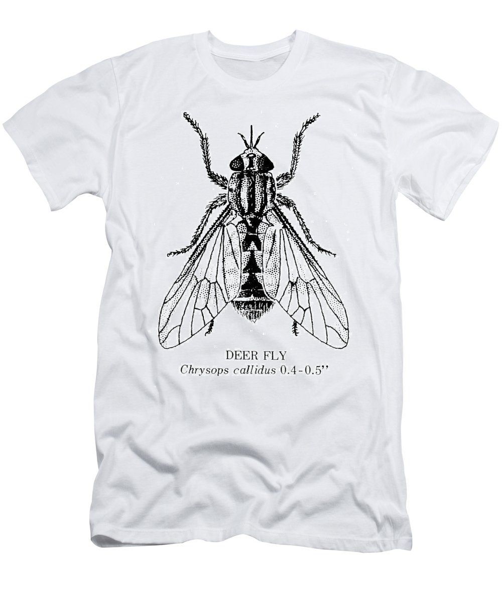 Animal Men's T-Shirt (Athletic Fit) featuring the photograph Deer Fly by Granger