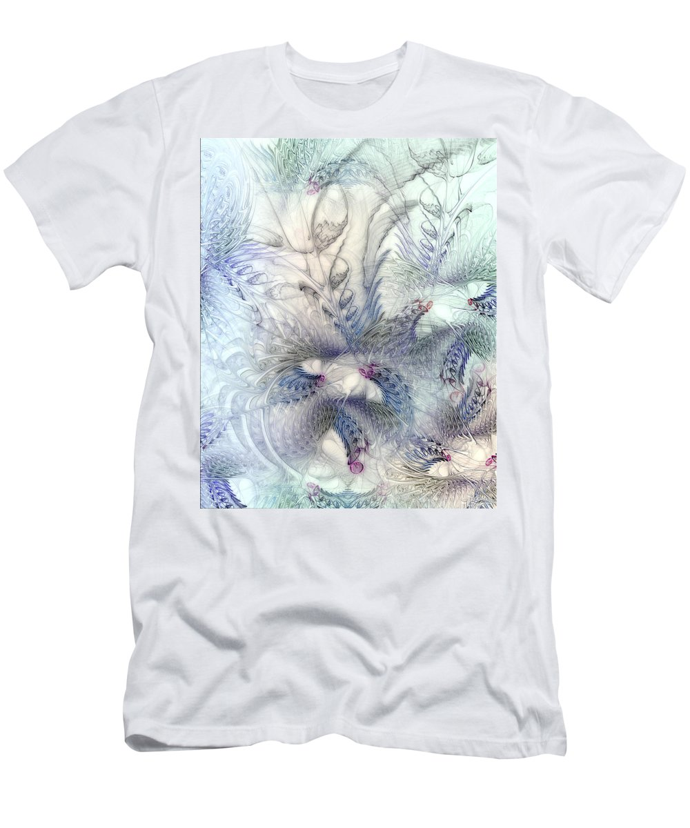 Abstract Men's T-Shirt (Athletic Fit) featuring the digital art Deferential Inspirations by Casey Kotas