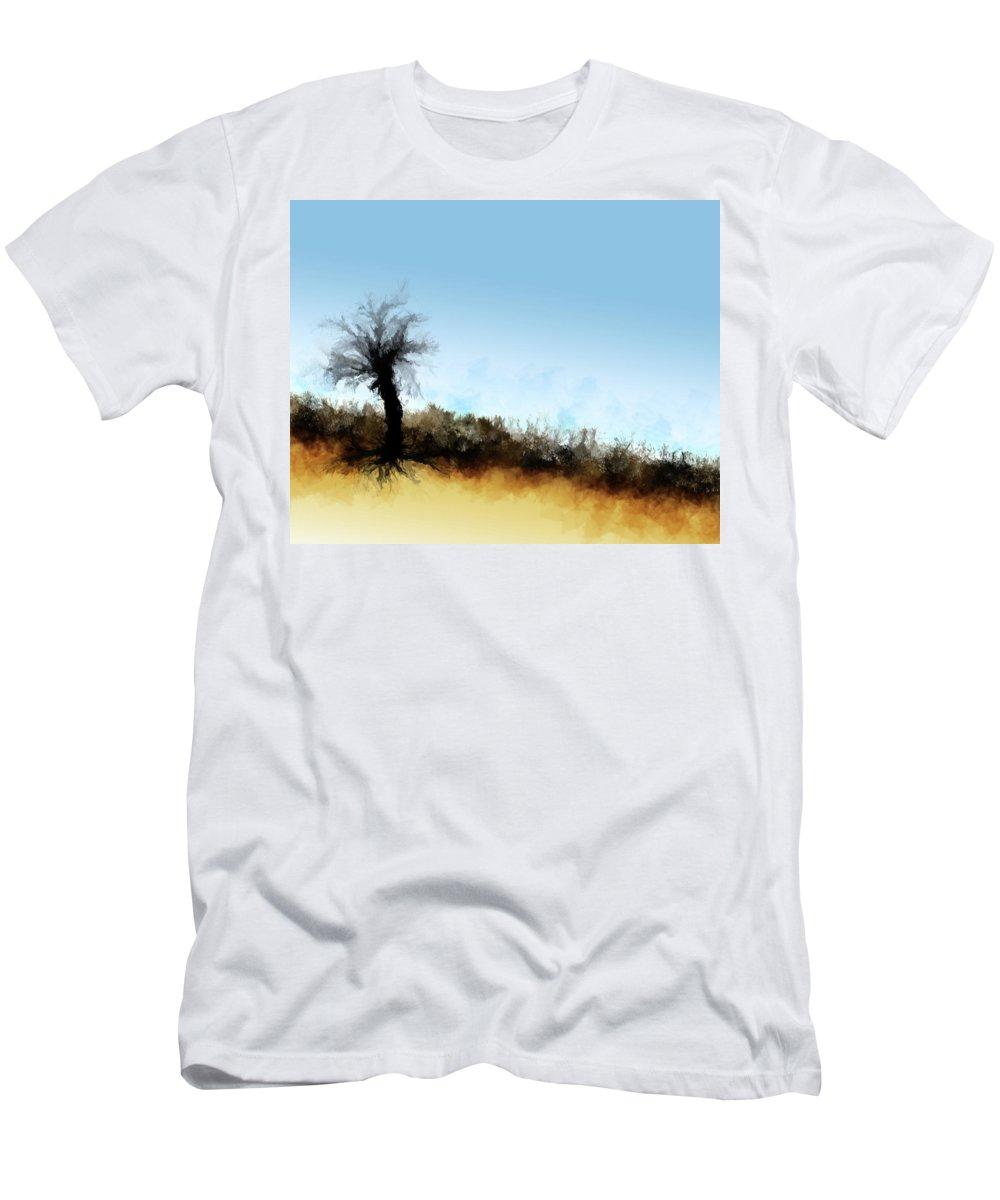 Men's T-Shirt (Athletic Fit) featuring the digital art Desert Landscape by Vijay Prakash