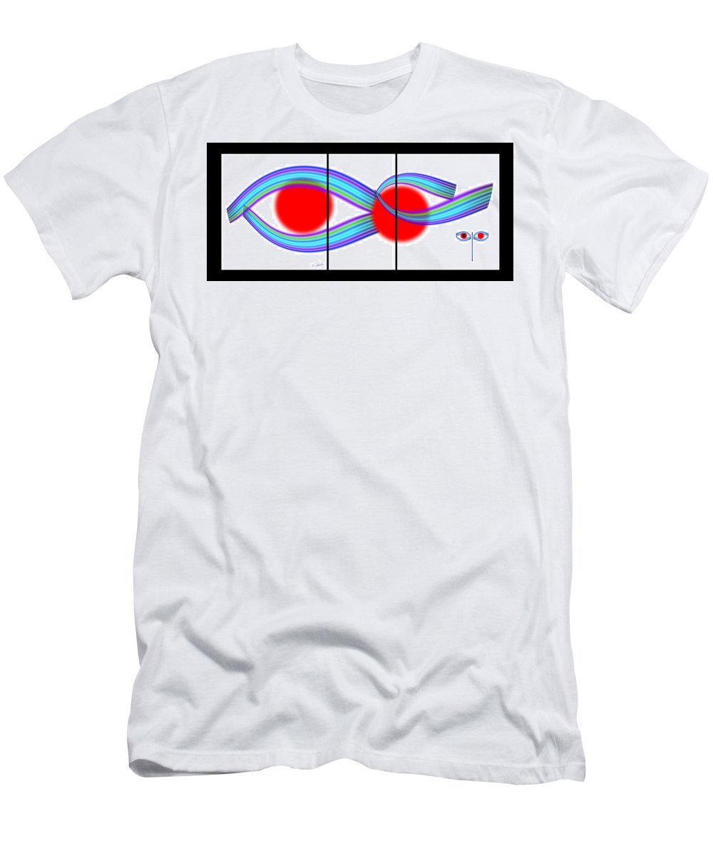 Japanese Men's T-Shirt (Athletic Fit) featuring the painting Design by Charles Stuart