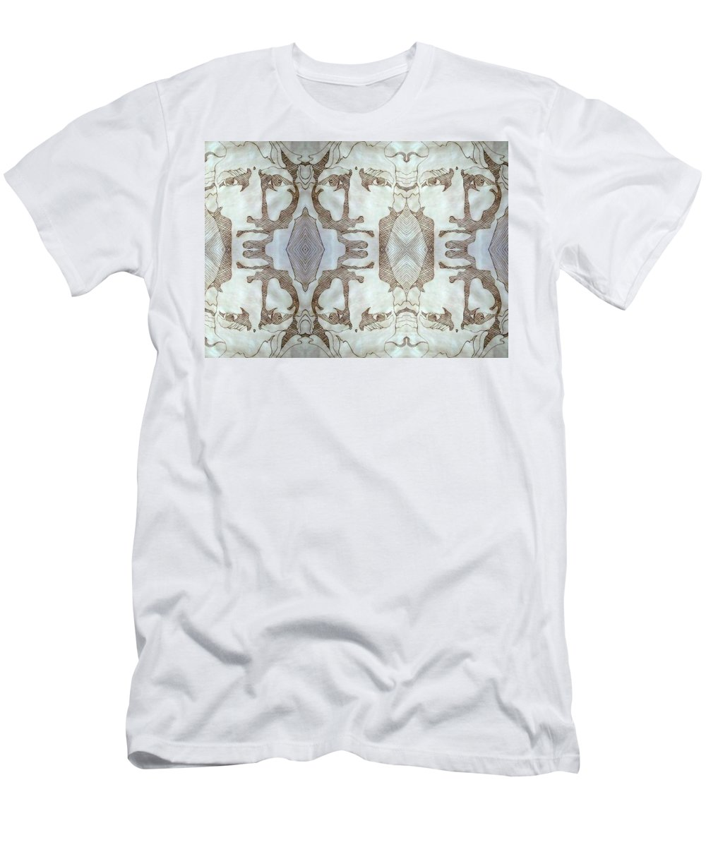 Willpower Men's T-Shirt (Athletic Fit) featuring the drawing Determination by Jane Alexander