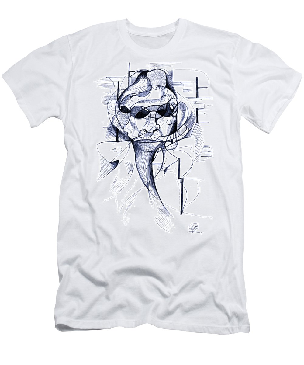 Drawing Men's T-Shirt (Athletic Fit) featuring the digital art Diego At The Door by Nicholas Burningham