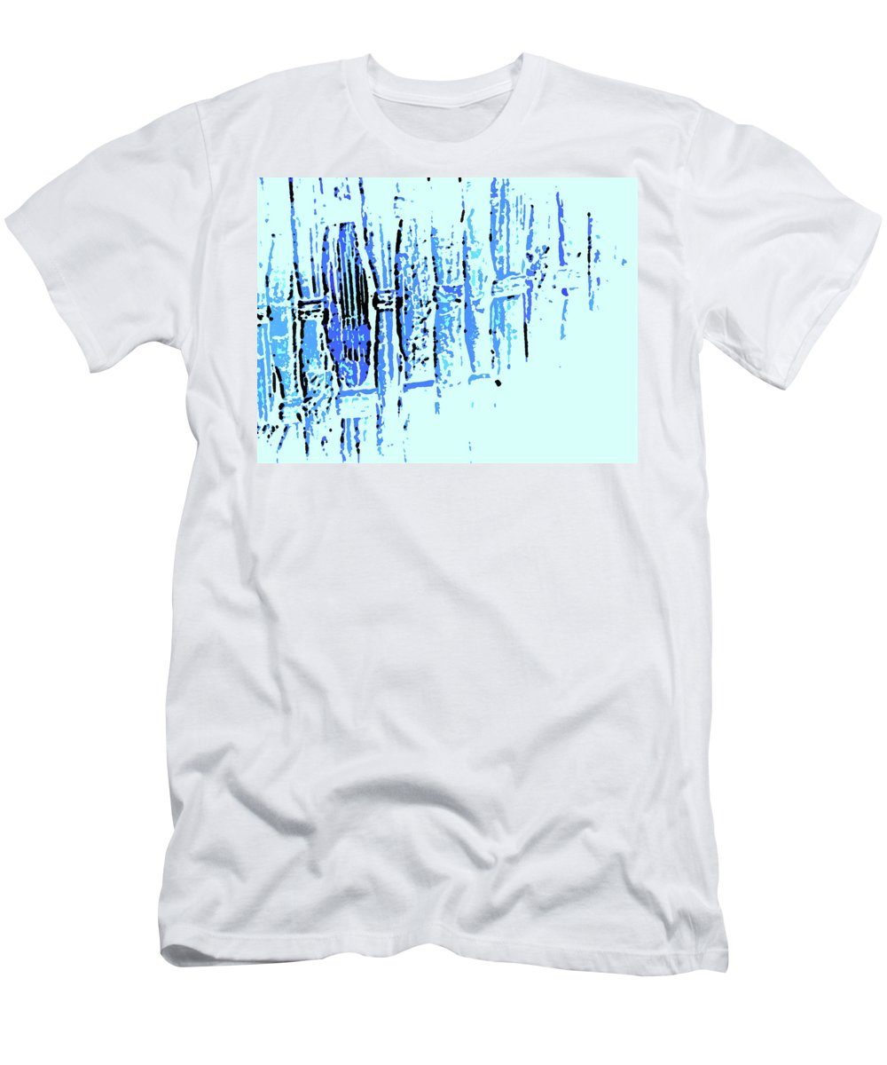 Abstract Men's T-Shirt (Athletic Fit) featuring the digital art Digital Weave by Lenore Senior