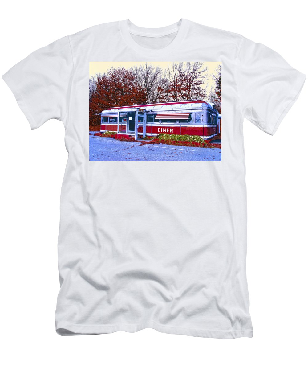 Diner Men's T-Shirt (Athletic Fit) featuring the mixed media Diner by Dominic Piperata