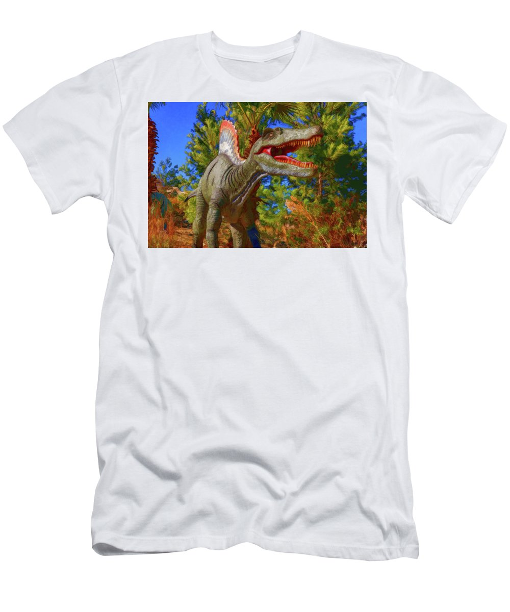 Dinosaurs Men's T-Shirt (Athletic Fit) featuring the photograph Dinosaur 12 by Mike Penney