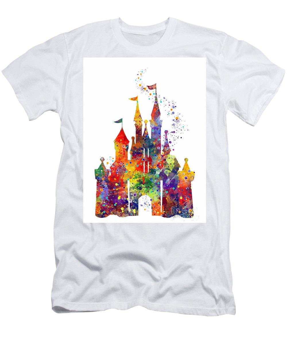 Disney Castle Men s T-Shirt (Athletic Fit) featuring the digital art Disney  Castle 4821e0e74