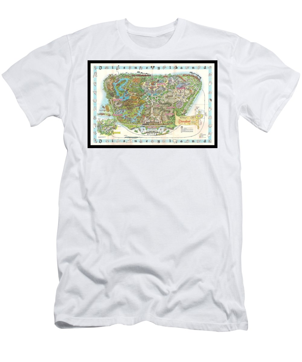 1962 Men's T-Shirt (Athletic Fit) featuring the photograph Disneyland Of Old by Tommy Anderson