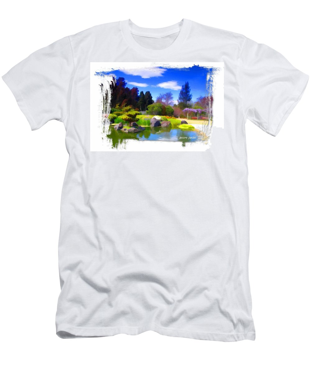 Turtle Island Men's T-Shirt (Athletic Fit) featuring the photograph Do-00010 Turtle Island Waterview by Digital Oil