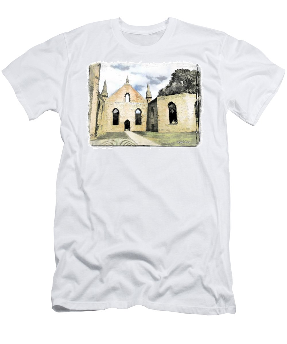 Church Men's T-Shirt (Athletic Fit) featuring the photograph Do-00244 Abandoned Church by Digital Oil