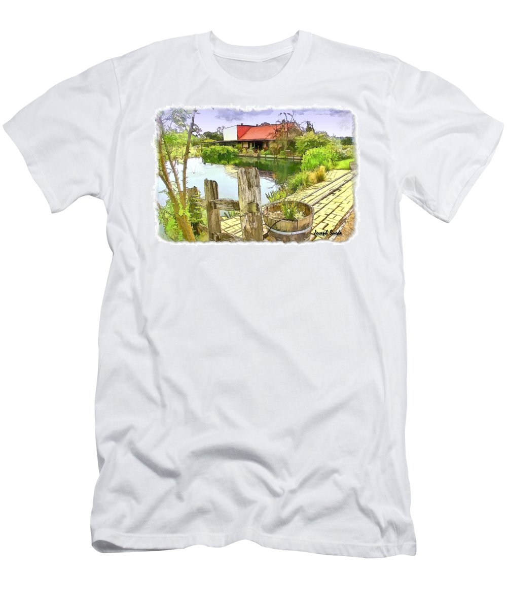 Farm Men's T-Shirt (Athletic Fit) featuring the photograph Do-00251 A Farm In Hunter Valley by Digital Oil