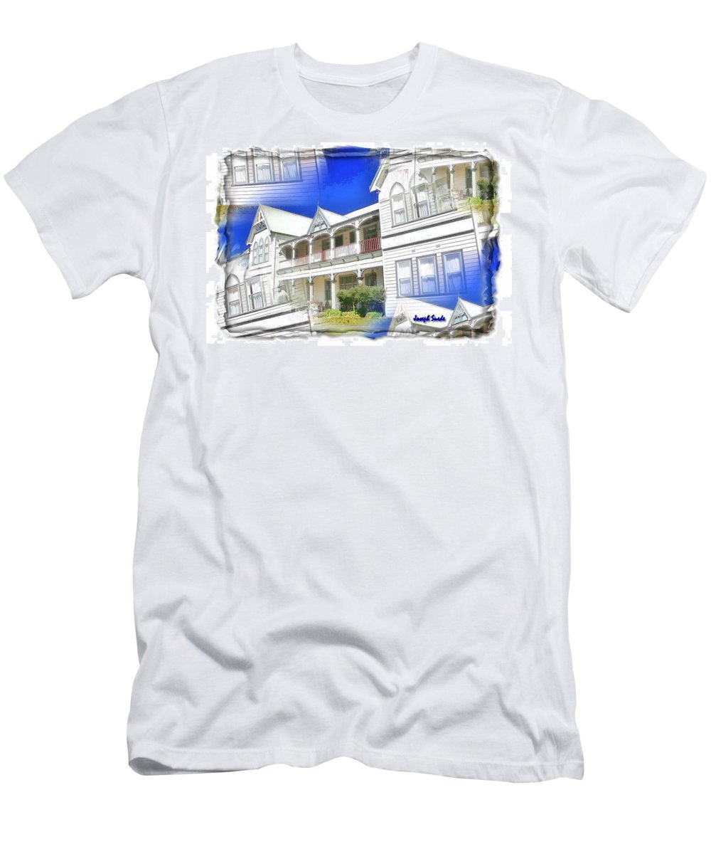 Front Men's T-Shirt (Athletic Fit) featuring the photograph Do-00270 Dreamy Front Of Peppers Convent by Digital Oil