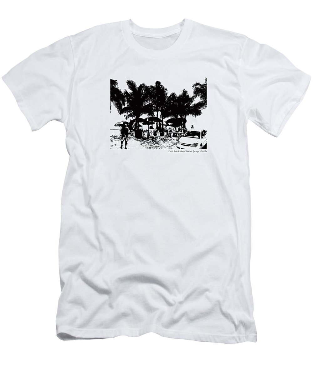 Beach Men's T-Shirt (Athletic Fit) featuring the photograph Doc's Beach House by Laurie Paci