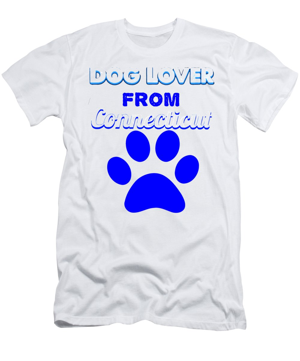 Beagle T-Shirt featuring the digital art Dog Lover From Conneticut by Kaylin Watchorn