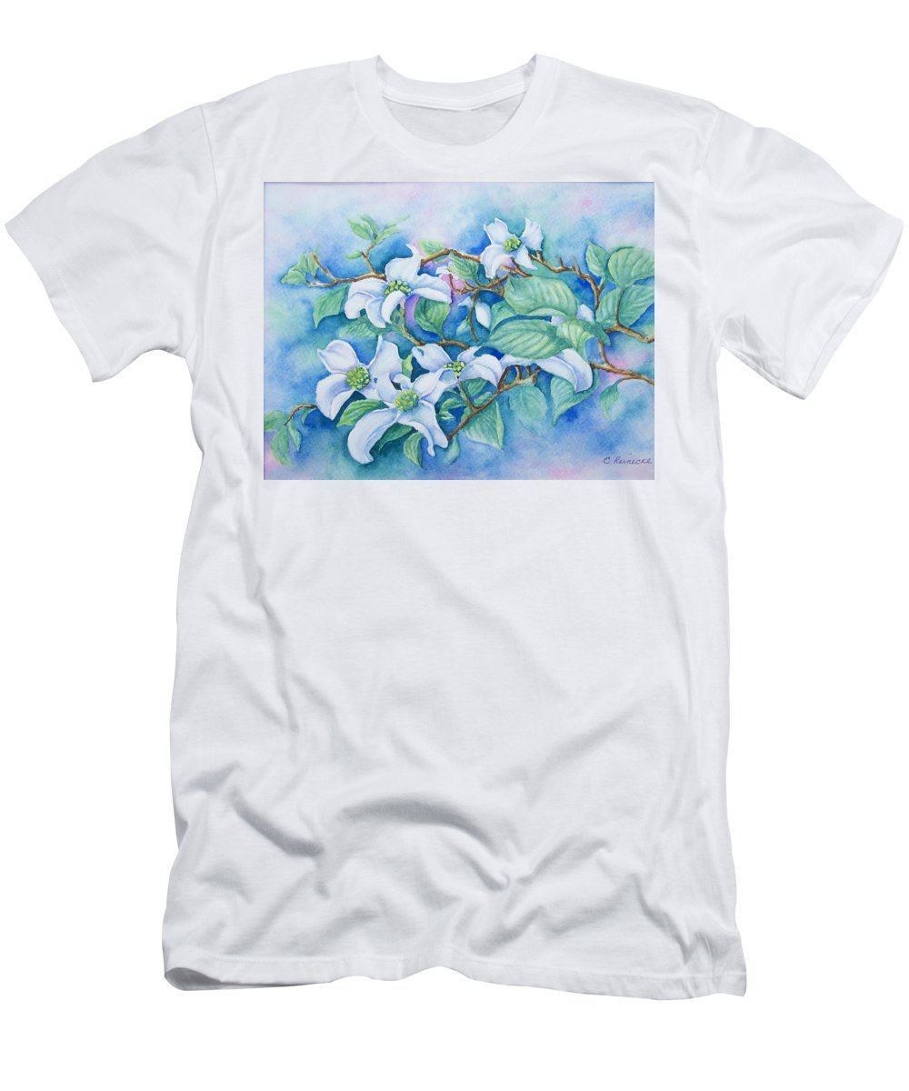 Floral T-Shirt featuring the painting Dogwood by Conni Reinecke