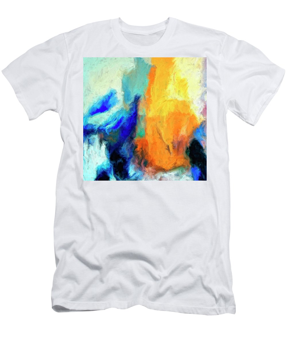 Don't Look Down Men's T-Shirt (Athletic Fit) featuring the painting Don't Look Down by Dominic Piperata