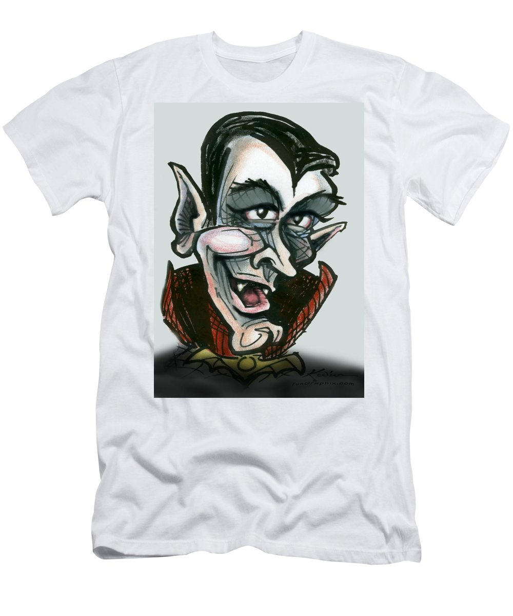Dracula Men's T-Shirt (Athletic Fit) featuring the greeting card Dracula by Kevin Middleton