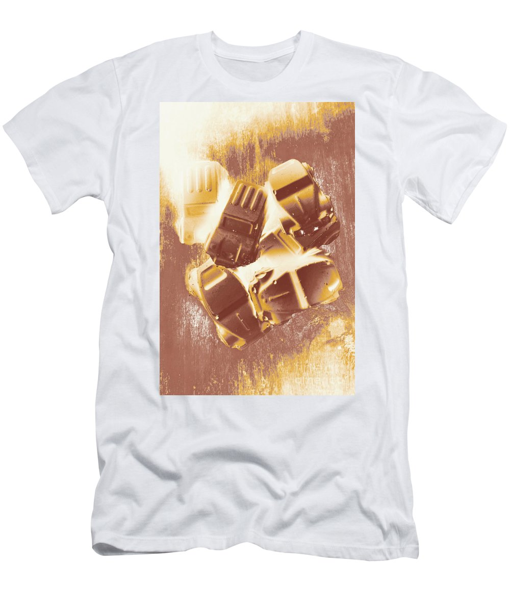 Street Men's T-Shirt (Athletic Fit) featuring the photograph Drag Racing Mob by Jorgo Photography - Wall Art Gallery