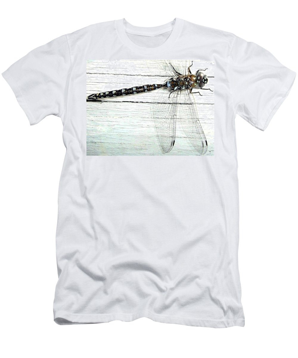 Insect Men's T-Shirt (Athletic Fit) featuring the photograph Dragonfly by Will Borden