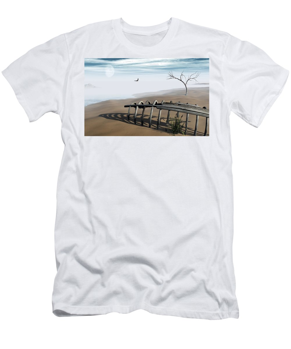 Surreal Men's T-Shirt (Athletic Fit) featuring the digital art Dream Lake by Richard Rizzo