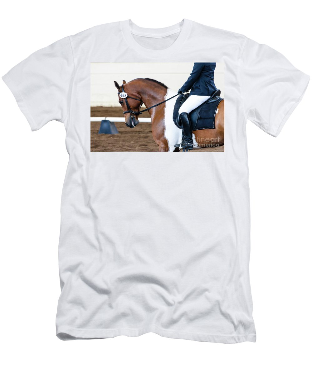 Horse Men's T-Shirt (Athletic Fit) featuring the photograph Dressage Show Horse by Ben Graham