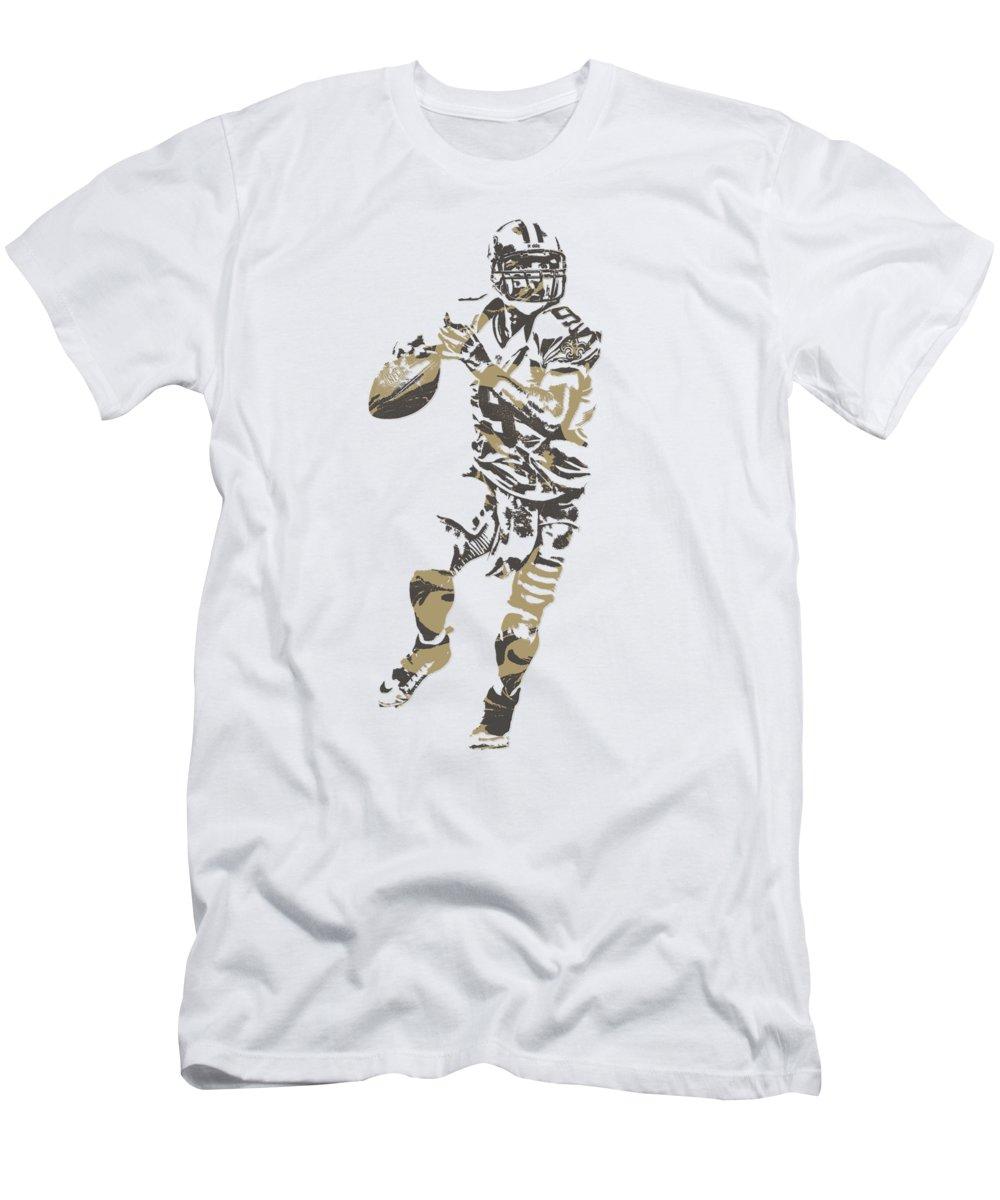 pretty nice fb992 01c93 Drew Brees New Orleans Saints Pixel Art T Shirt 1 Men's T-Shirt (Athletic  Fit)