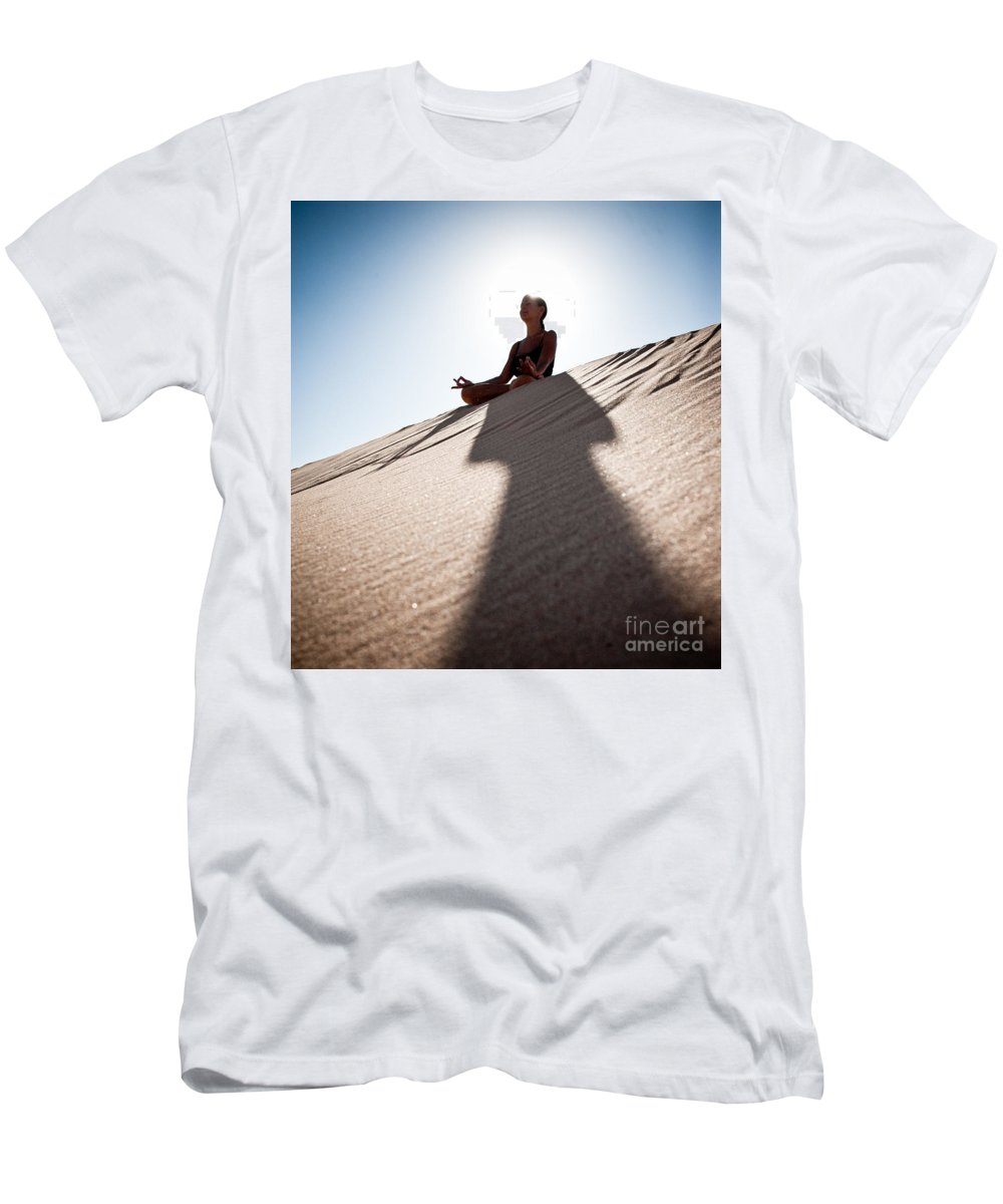 Yoga Men's T-Shirt (Athletic Fit) featuring the photograph Dry Meditation by Scott Sawyer