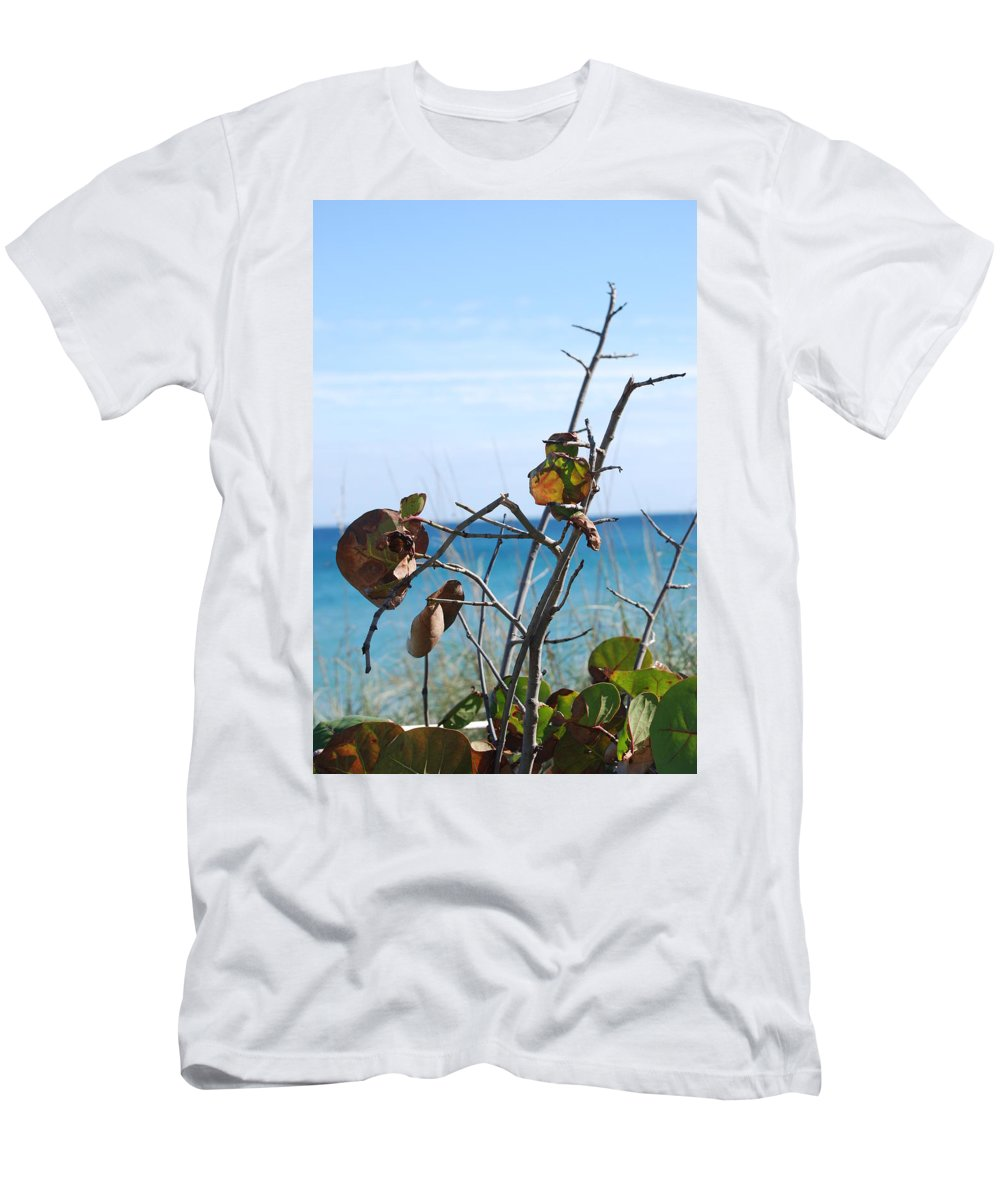 Ocean Men's T-Shirt (Athletic Fit) featuring the photograph Dune Plants by Rob Hans