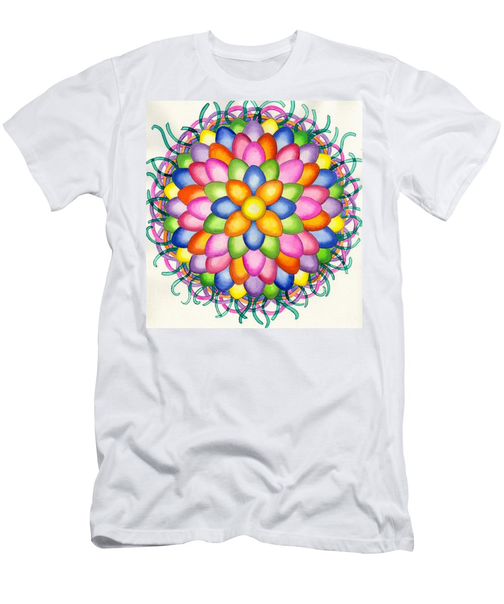 Easter Men's T-Shirt (Athletic Fit) featuring the painting Easter Design by Catherine G McElroy
