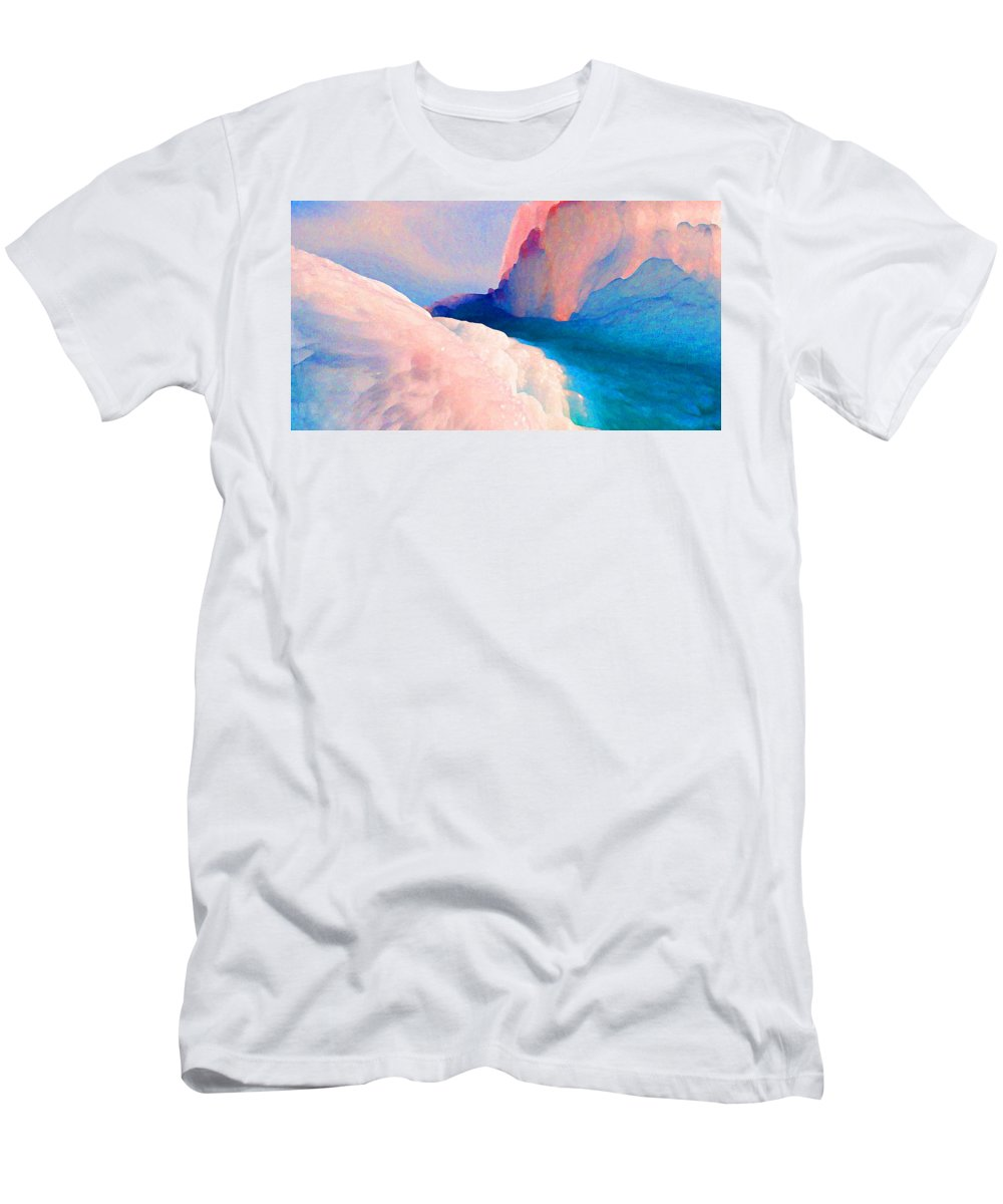Abstract Men's T-Shirt (Athletic Fit) featuring the photograph Ebb And Flow by Steve Karol