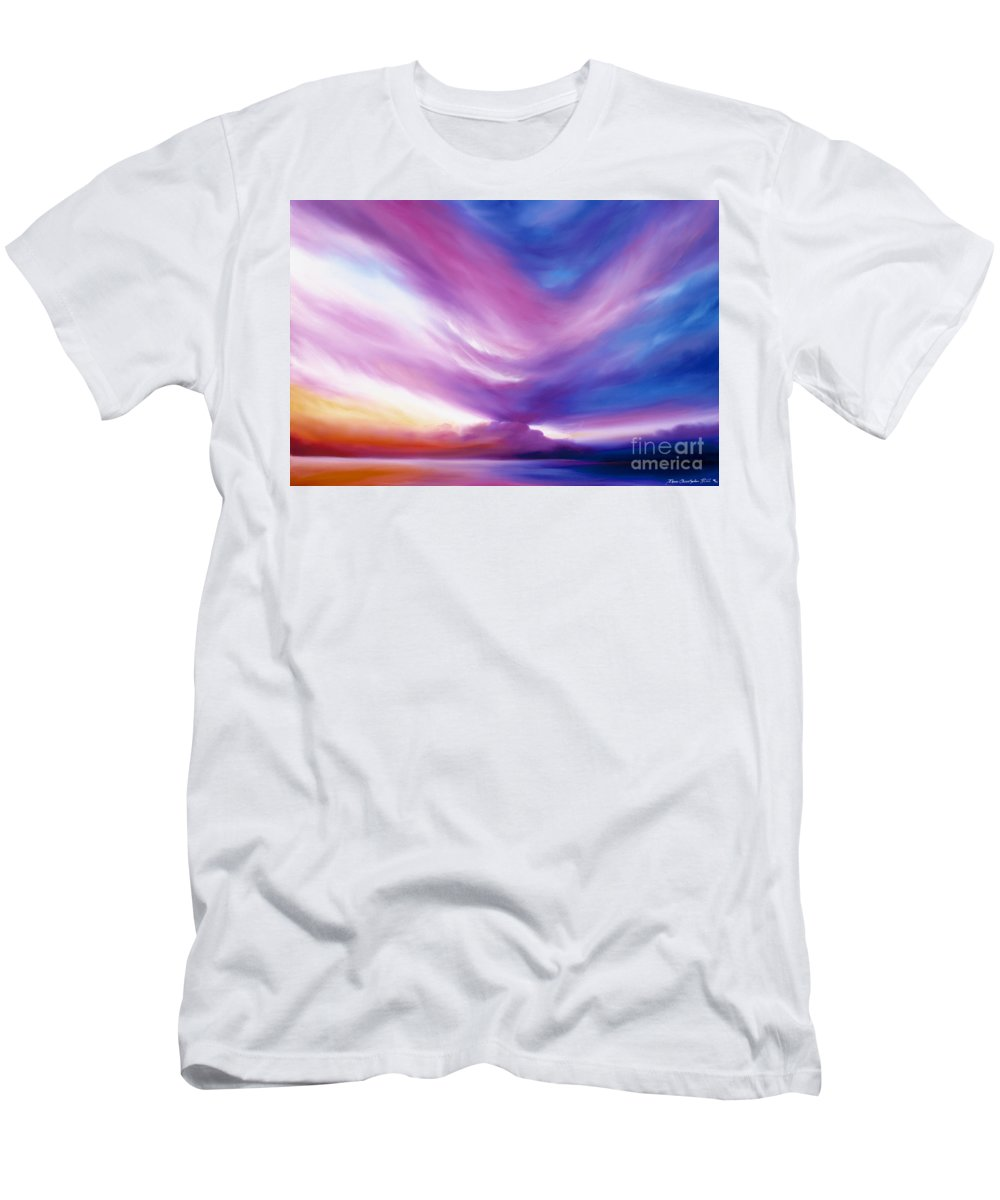 Clouds Men's T-Shirt (Athletic Fit) featuring the painting Ecstacy by James Christopher Hill