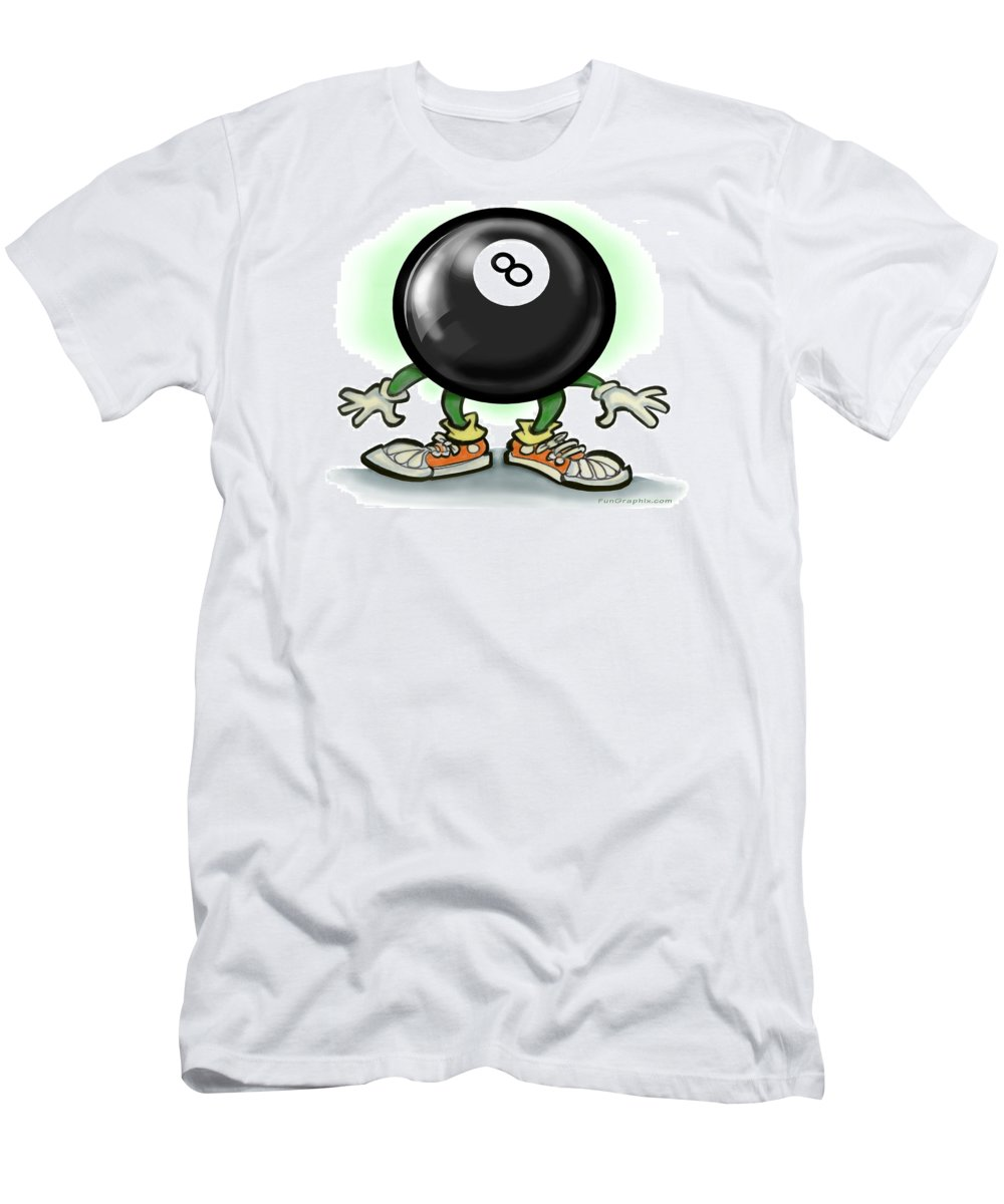Eightball Men's T-Shirt (Athletic Fit) featuring the greeting card Eightball by Kevin Middleton