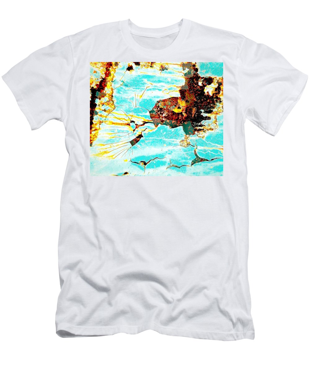 Abstract Art Men's T-Shirt (Athletic Fit) featuring the photograph Sparky The Electric Dog by David Coleman