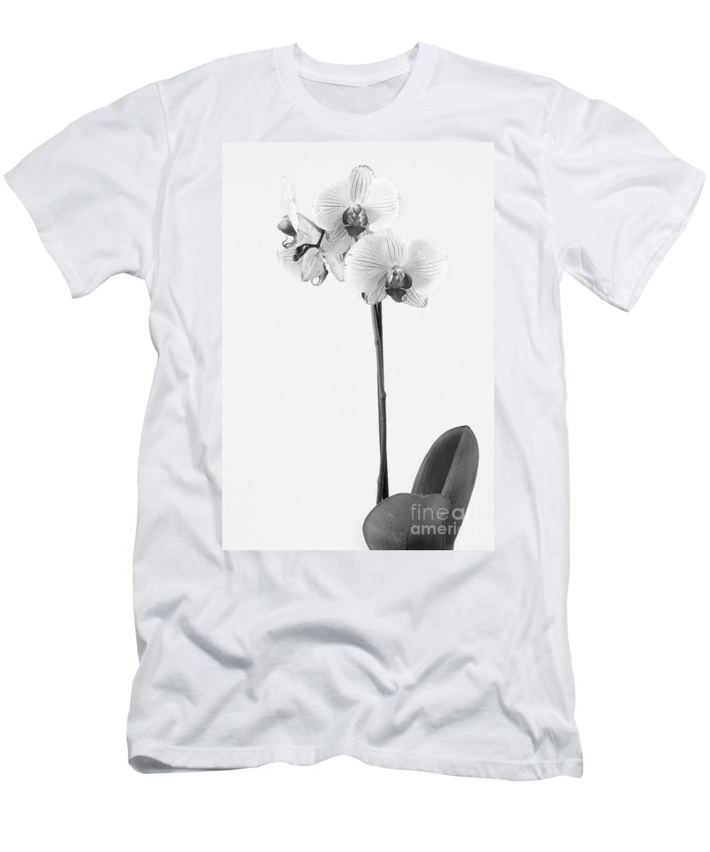 Flowers Men's T-Shirt (Athletic Fit) featuring the photograph Elegant Orchid II by Anita Oakley