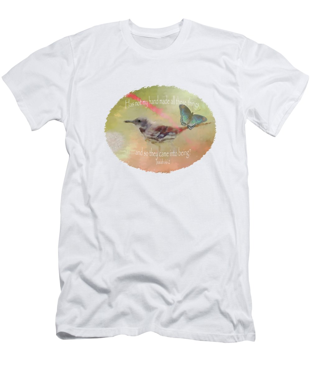 Elements Of Nature Men's T-Shirt (Athletic Fit) featuring the digital art Elements Of Nature - Verse by Anita Faye