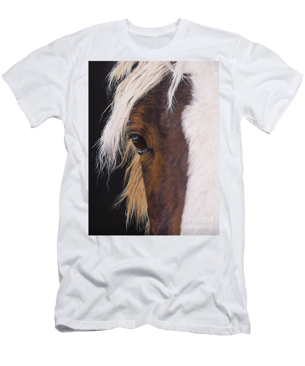 Portrait T-Shirt featuring the painting Ellroy by Pauline Sharp