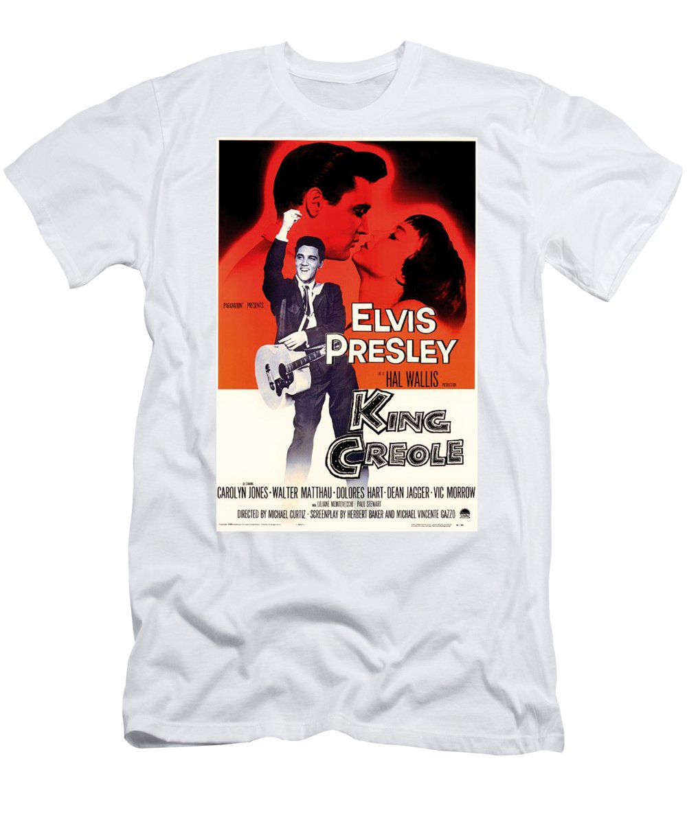 b35949e5128 Movie Men s T-Shirt (Athletic Fit) featuring the mixed media Elvis Presley  In