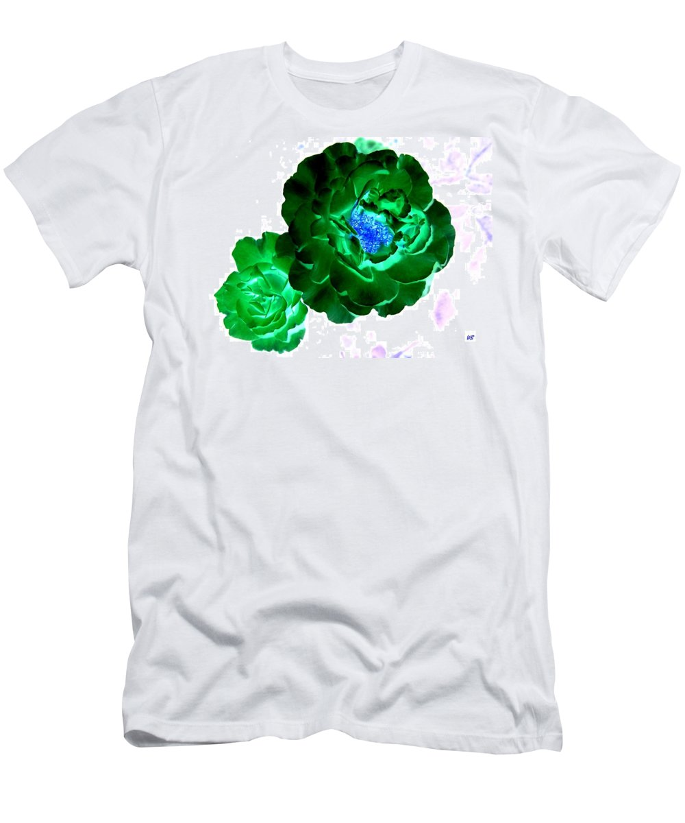 Rose Men's T-Shirt (Athletic Fit) featuring the digital art Emerald Rose by Will Borden