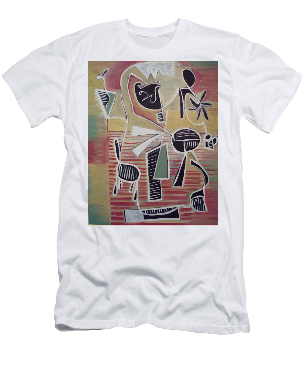 Abstract Men's T-Shirt (Athletic Fit) featuring the painting End Cup by W Todd Durrance