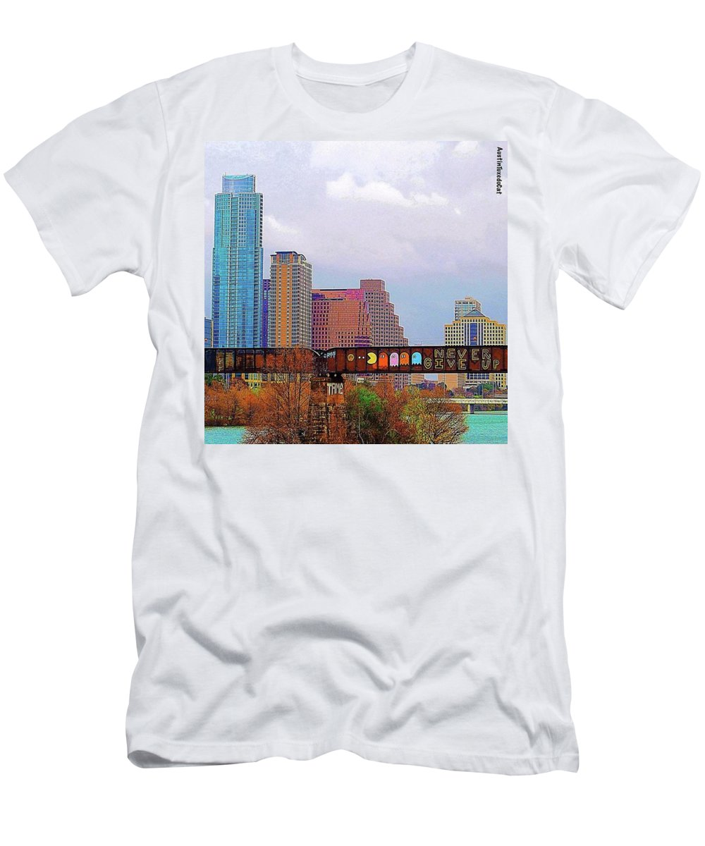 Bridge T-Shirt featuring the photograph End Of The Year by Austin Tuxedo Cat