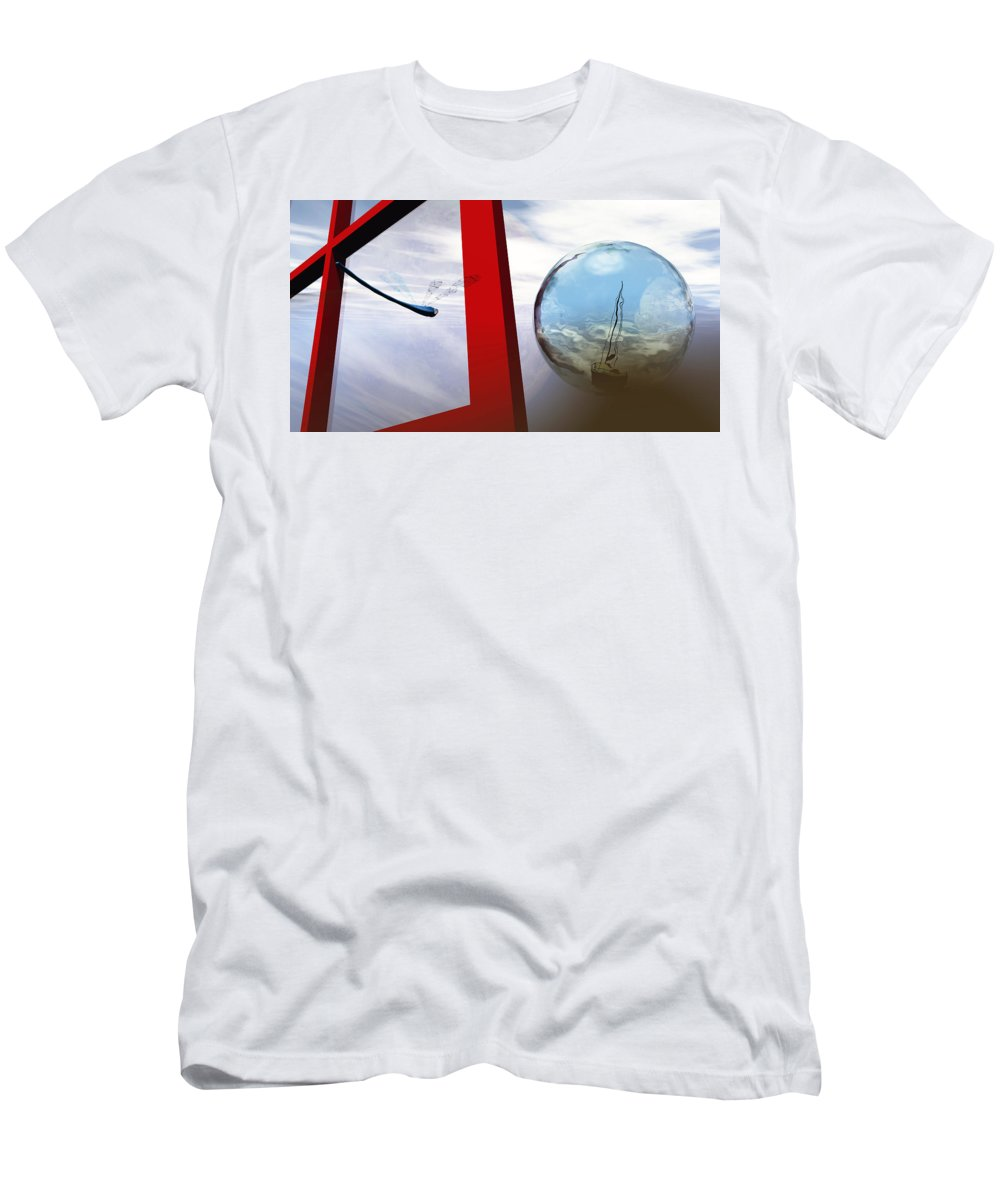 Surreal Men's T-Shirt (Athletic Fit) featuring the digital art Endless Voyage by Richard Rizzo